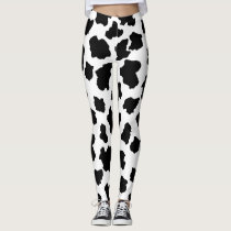 Spotted Moo Cow Adorable Dutch Milk Maid Holstein Leggings