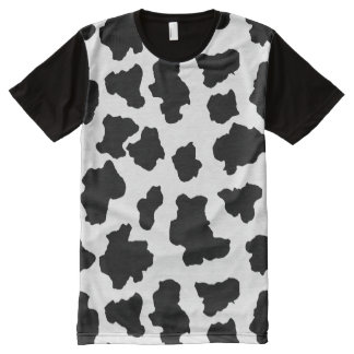 Spotted Moo Cow Dutch Holstein Animal Spots All-Over Print T-shirt