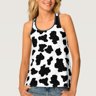 Spotted Moo Cow Dutch Holstein Animal Spots Tank Top