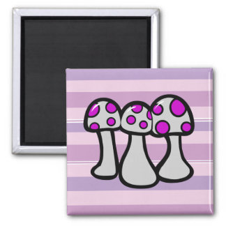 Spotted Mushroom 2 Inch Square Magnet