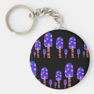 Spotted Mushroom Keychain