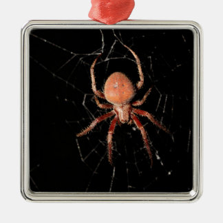 Spotted Orb Weaver Spider Metal Ornament