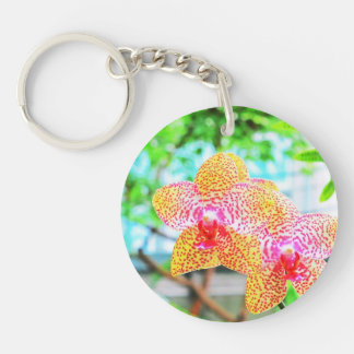 Spotted Orchids Keychain