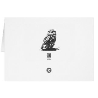 Spotted Owl Notecard Stationery Note Card