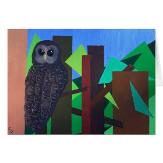 Spotted Owl Painting Greeting Cards