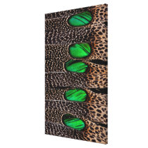 Spotted pheasant feather pattern canvas print