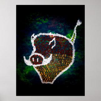 """""""Spotted Pig"""" JTG Art Poster"""
