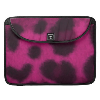 Spotted Pink Leopard Sleeves For MacBooks