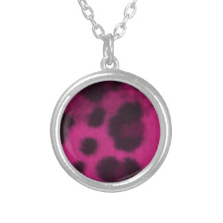 Spotted Pink Leopard Necklace