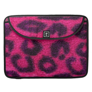 Spotted Pink Leopard Wild Cat Sleeve For MacBook Pro