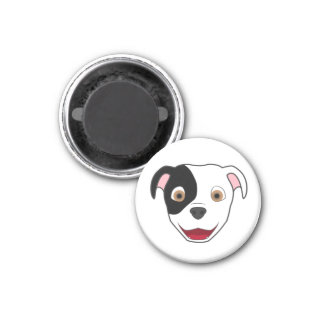 Spotted Pitbull 1 Inch Round Magnet
