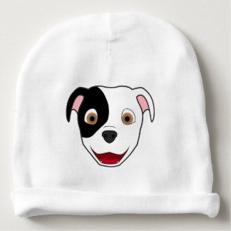 Spotted Pitbull Face Baby Beanie