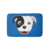 Spotted Pitbull Face Bath Mat