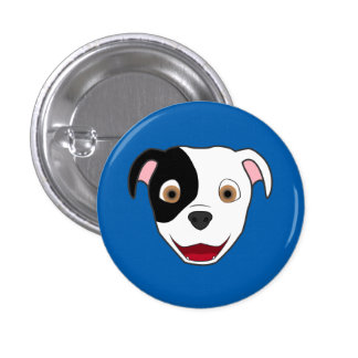 Spotted Pitbull Face Button