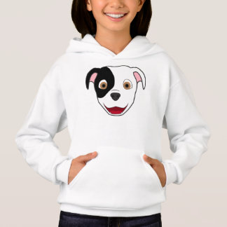 Spotted Pitbull Face Hoodie