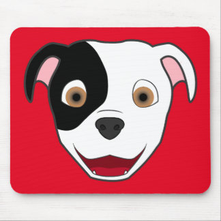 Spotted Pitbull Face Mouse Pad