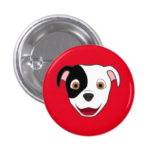 Spotted Pitbull Face Pinback Button