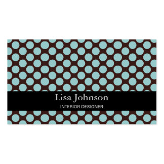 Spotted Polka Dots Interior Designer Card Double-Sided Standard Business Cards (Pack Of 100)