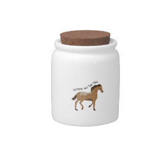 Spotted Pony Candy Jars