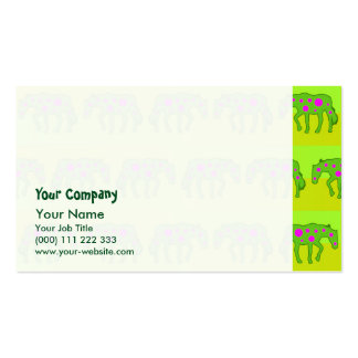 Spotted psychedelic horses Double-Sided standard business cards (Pack of 100)
