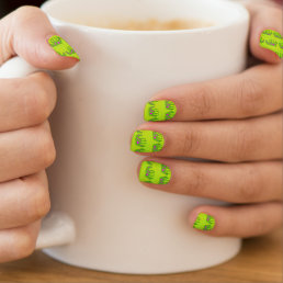 Spotted psychedelic horses minx nail wraps