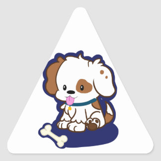 Spotted Puppy Triangle Sticker