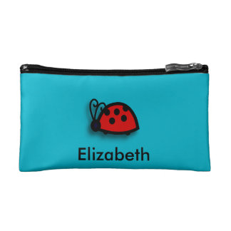 Spotted Red Ladybird Graphic Cosmetics Bags