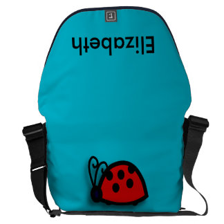 Spotted Red Ladybird Graphic Courier Bags