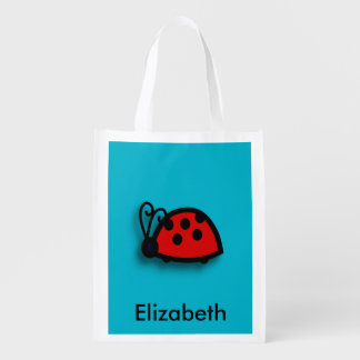 Spotted Red Ladybird Graphic Market Tote
