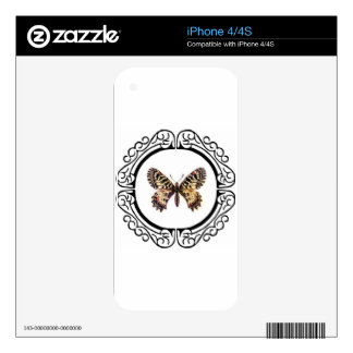 spotted ringed butterfly skin for iPhone 4