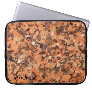 Spotted Rock Texture Lively Pattern Orange Black Laptop Sleeve