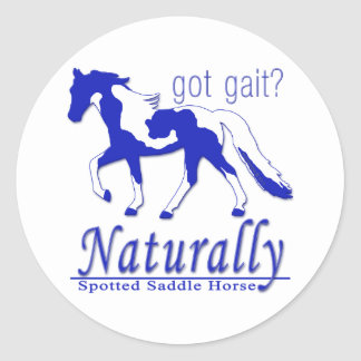 Spotted Saddle Horse Got Gait? Naturally Round Stickers