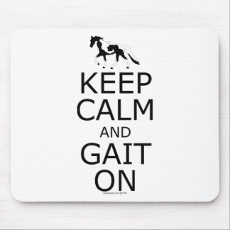 Spotted Saddle Horse Keep Calm Gait On Mouse Pad