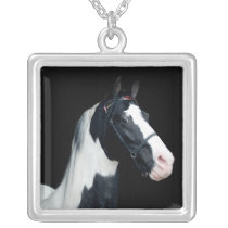 Spotted Saddle Horse Silver Plated Necklace
