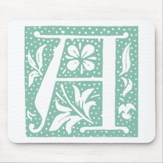 Spotted Seafoam Green Letter A Monogram Mouse Pad