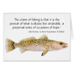 Spotted Seatrout Card with fishing quote