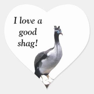Spotted Shag Heart Sticker