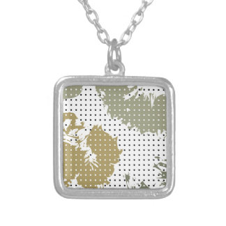 Spotted Silver Plated Necklace