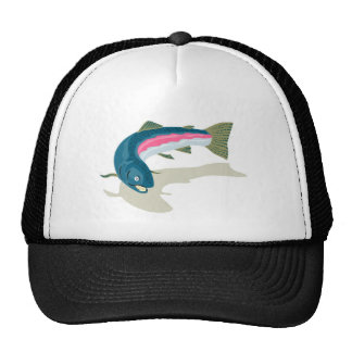 spotted speckled trout fish mesh hats