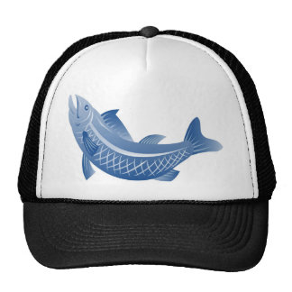 spotted speckled trout fish trucker hats