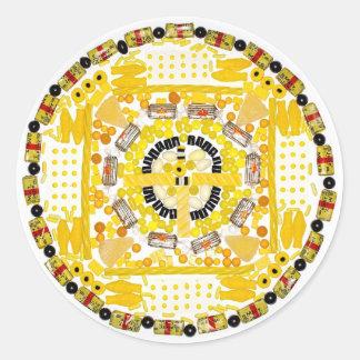 """Spotted Sunshine"" Candala Classic Round Sticker"