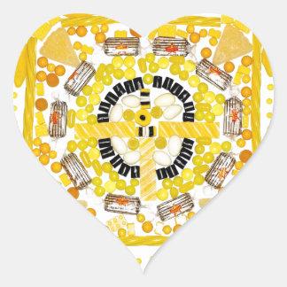 """Spotted Sunshine"" Candala Heart Sticker"