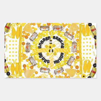 """Spotted Sunshine"" Candala Rectangular Sticker"