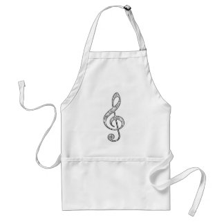 Spotted Treble Clef Adult Apron