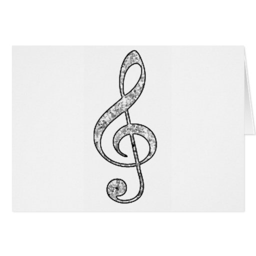 Spotted Treble Clef Greeting Card