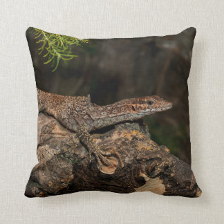 Spotted Tree Monitor Throw Pillow