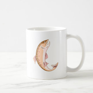 spotted trout fish jumping coffee mug