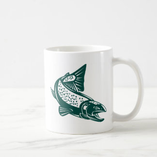 spotted trout fish jumping coffee mugs