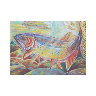 Spotted trout stretched canvas print