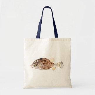 Spotted Trunkfish Vintage Fish Print Tote Bag